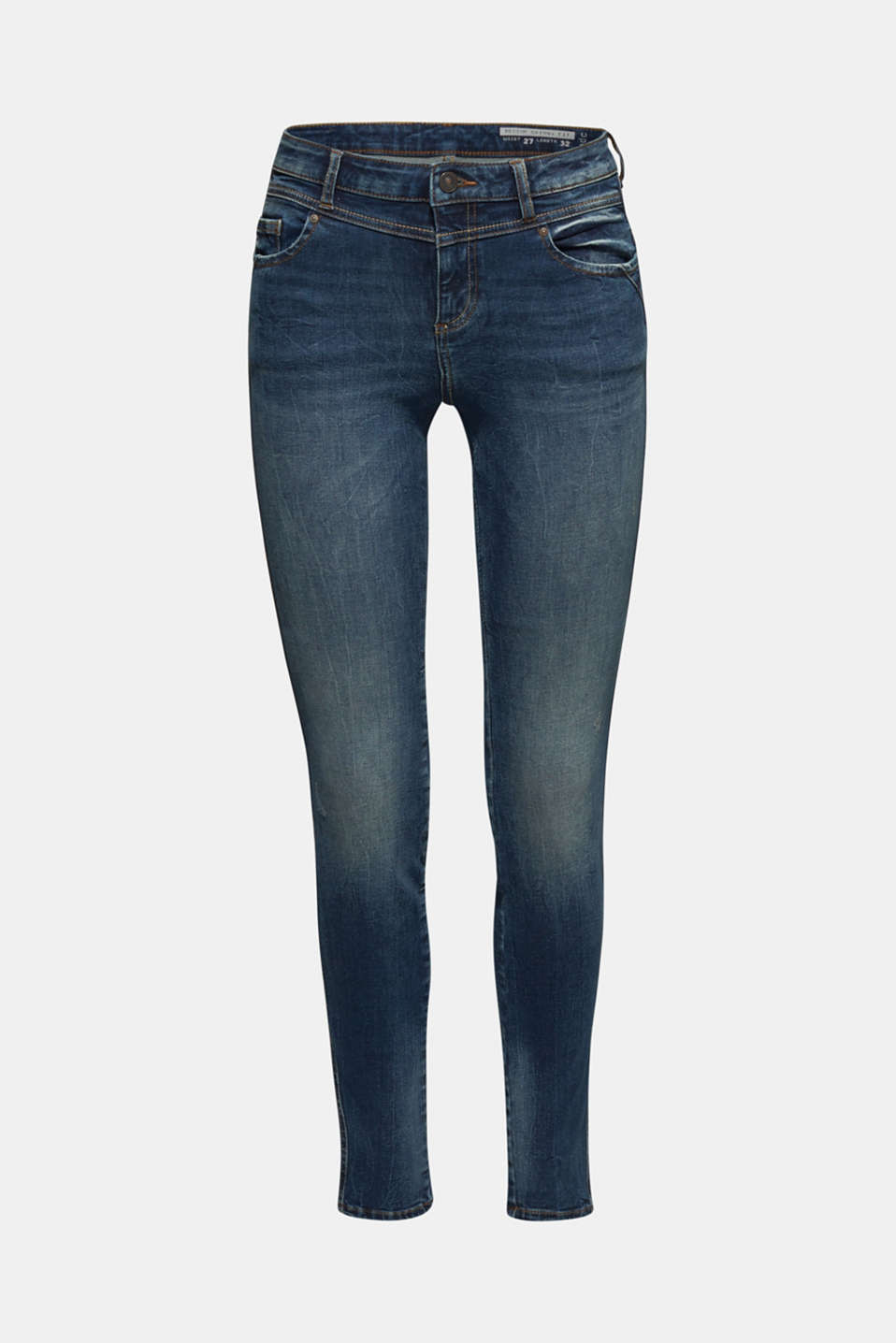 With TENCEL™: Shaping jeans with two-way stretch, BLUE DARK WASH, detail image number 7