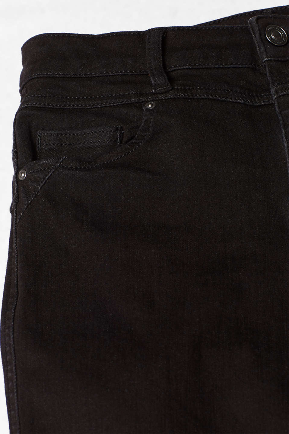 With TENCEL™: Shaping jeans with two-way stretch, BLACK RINSE, detail image number 4