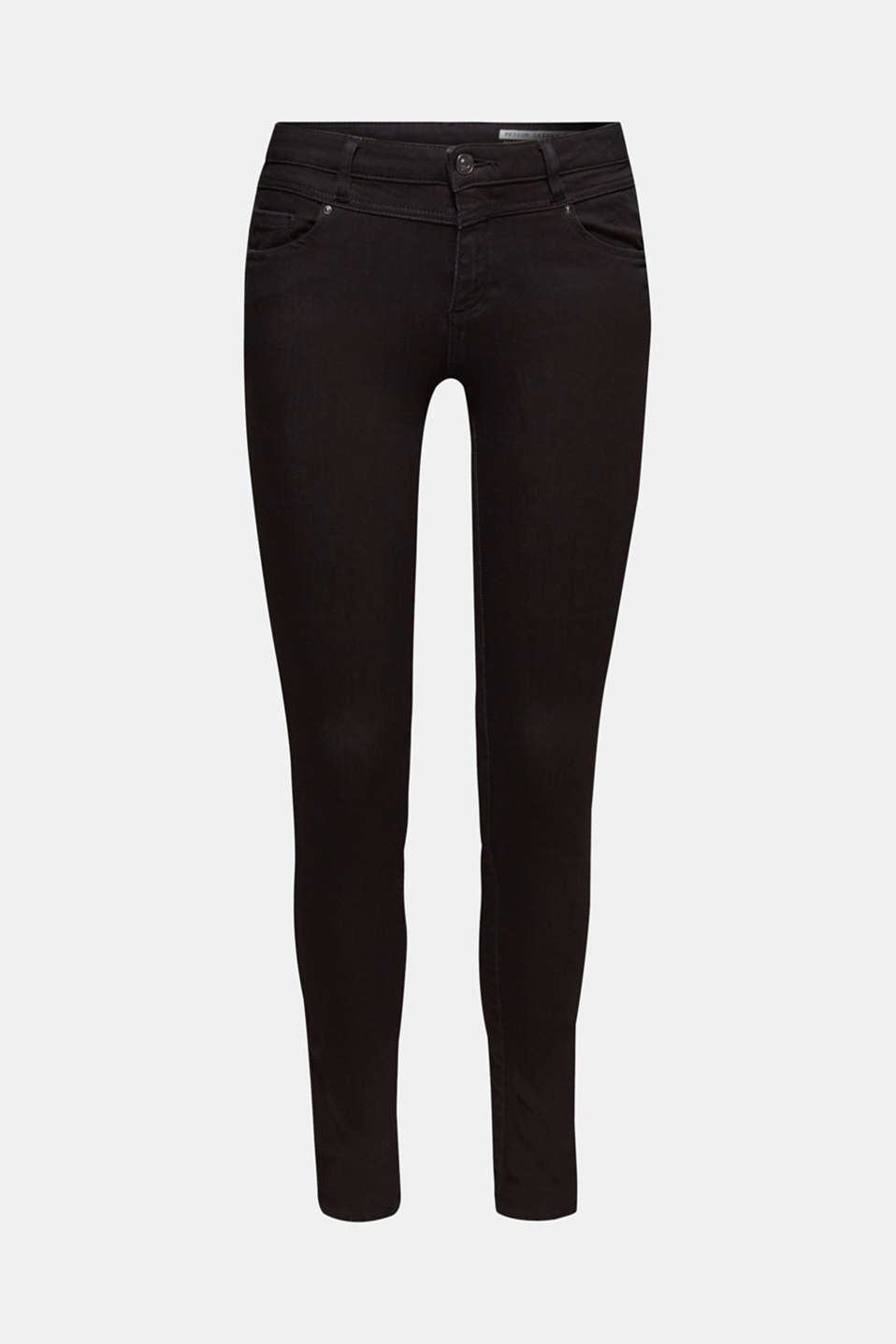With TENCEL™: Shaping jeans with two-way stretch, BLACK RINSE, detail image number 8