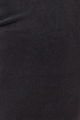 With TENCEL™: Shaping jeans with two-way stretch, BLACK DARK WASH, detail