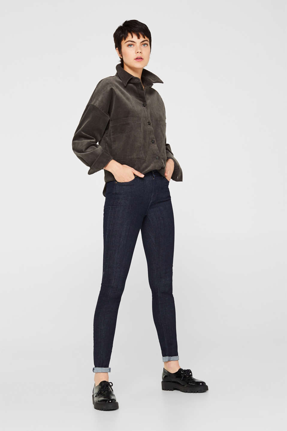 edc - Stretch-Jeggings mit Organic Cotton