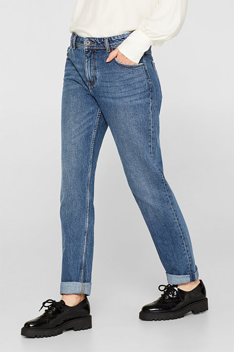 Stretch jeans with a high-rise waist