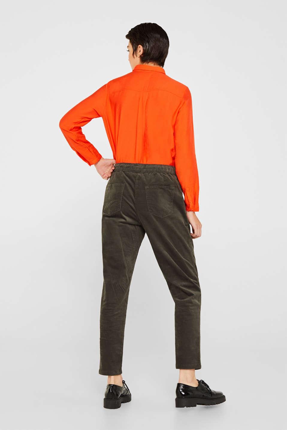 Pants woven, DARK KHAKI, detail image number 3