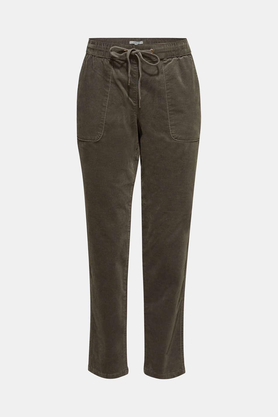 Pants woven, DARK KHAKI, detail image number 8