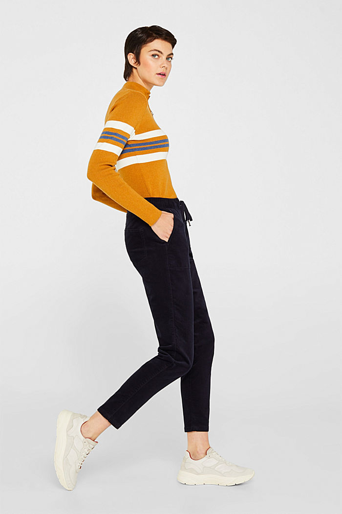 Stretch corduroy tracksuit bottoms