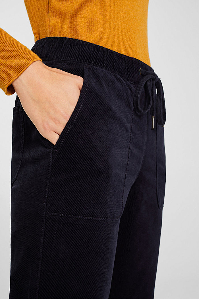 Stretch corduroy tracksuit bottoms, NAVY, detail image number 2