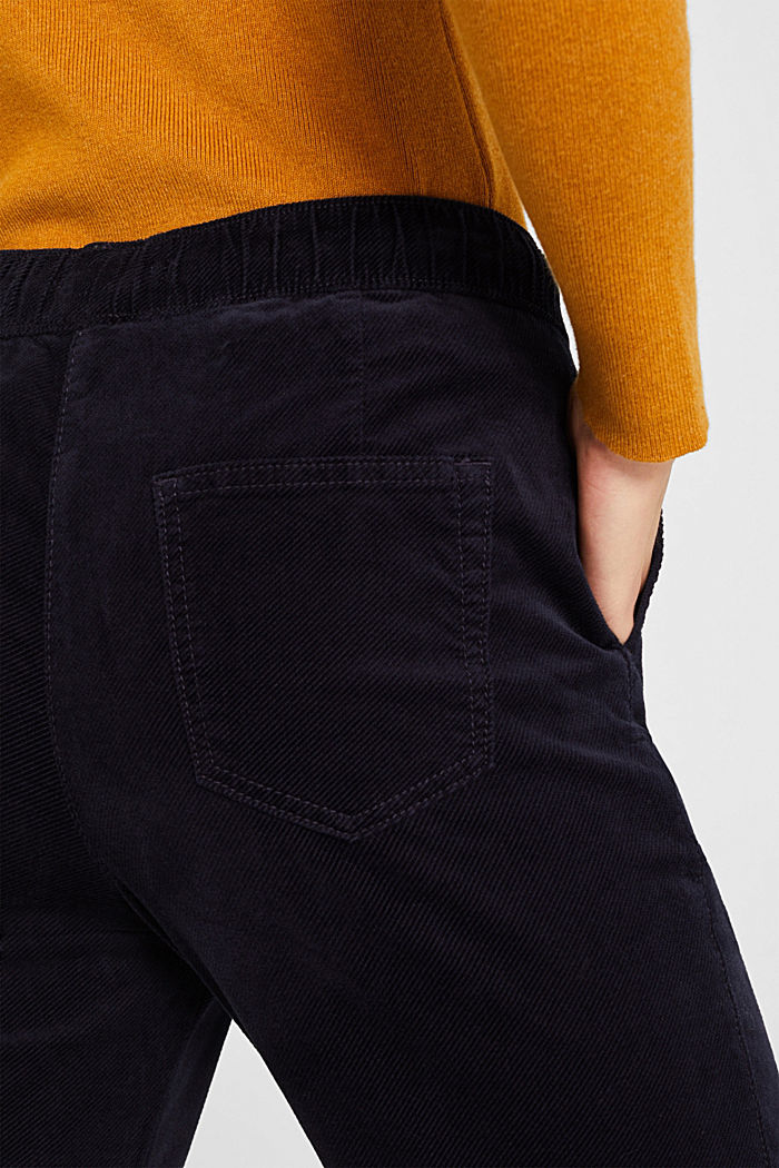 Stretch corduroy tracksuit bottoms, NAVY, detail image number 5