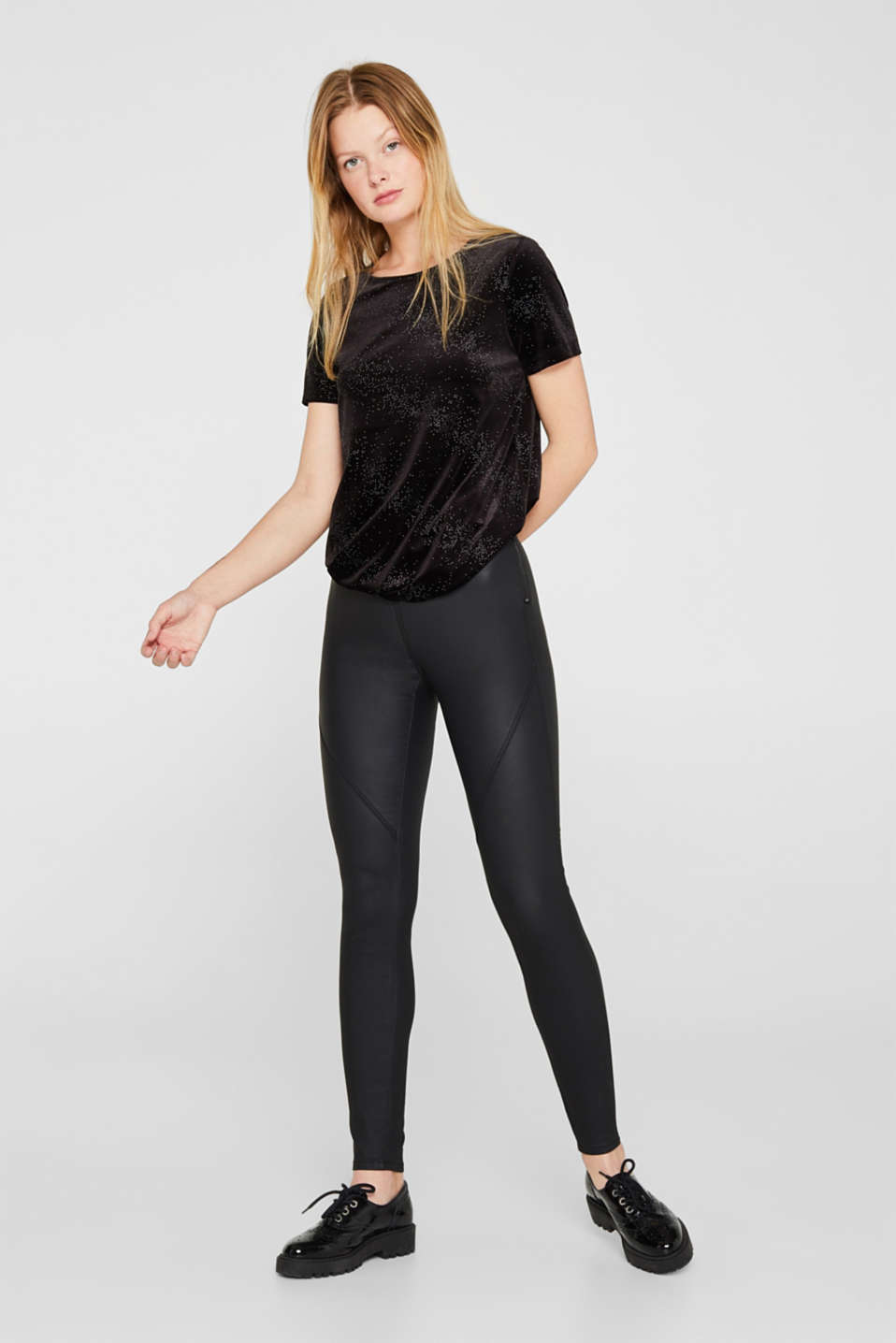 edc - Coated Stretch-Treggings