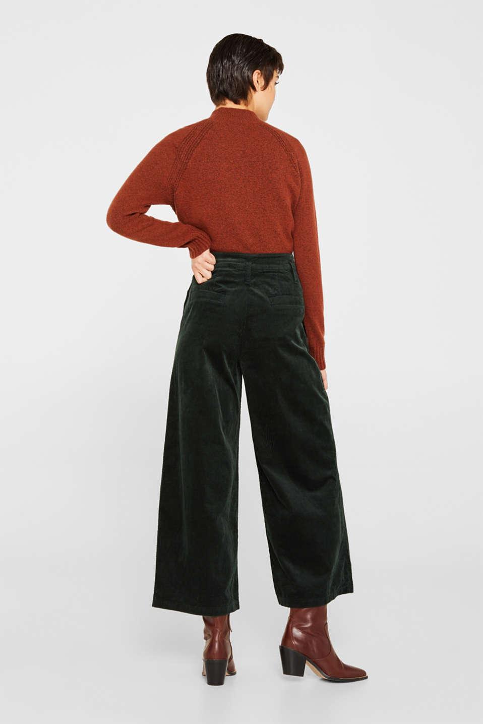 Pants woven, DARK TEAL GREEN, detail image number 3