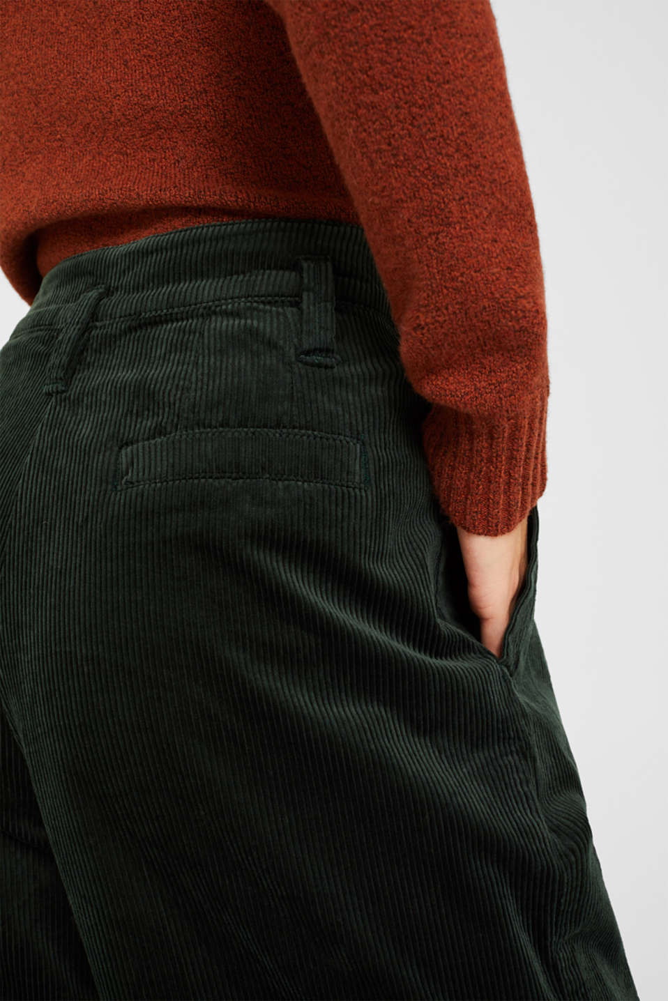Pants woven, DARK TEAL GREEN, detail image number 5
