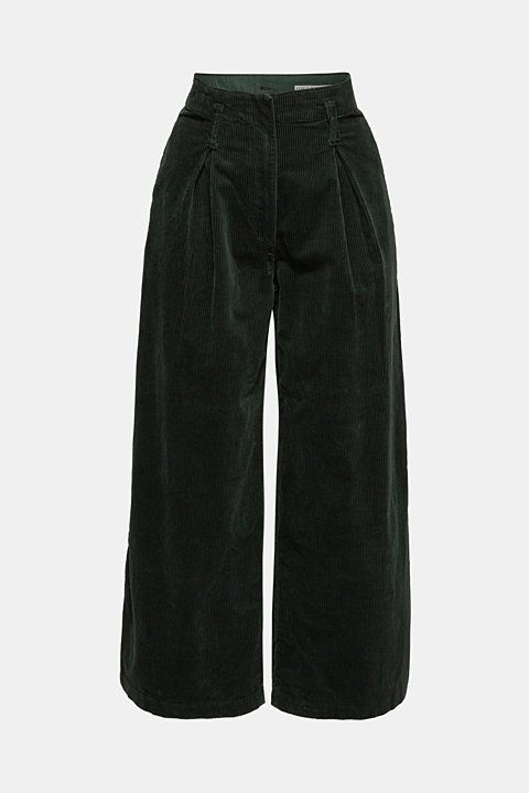 Corduroy culottes made of stretch cotton