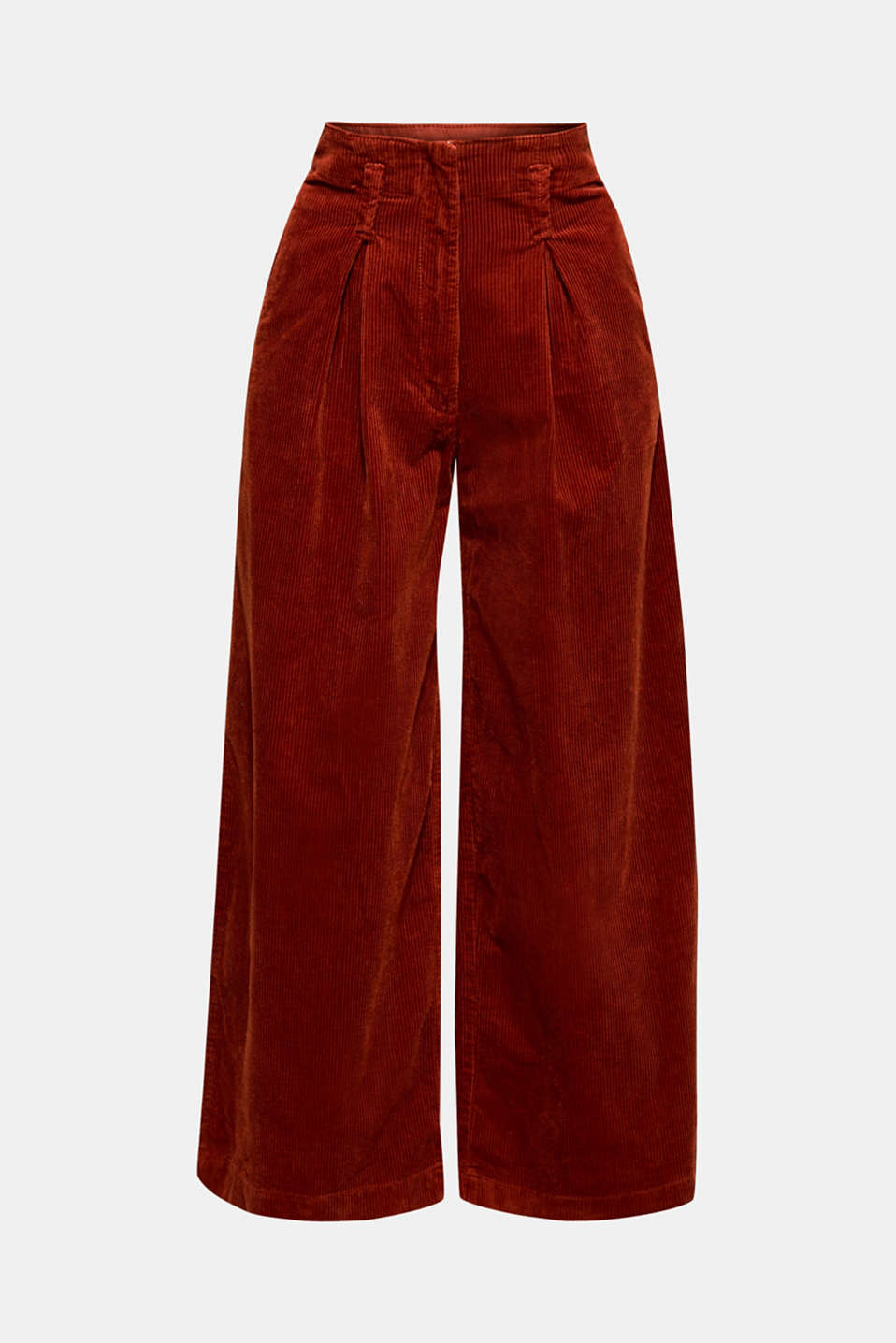 Corduroy culottes made of stretch cotton, TERRACOTTA, detail image number 6