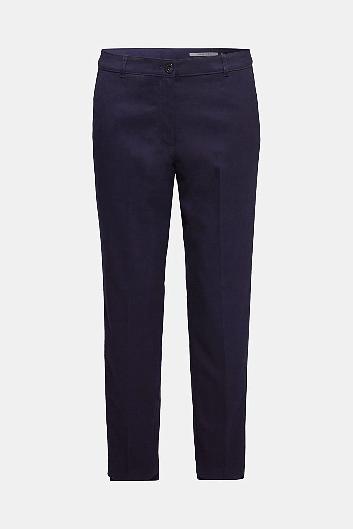 Stretch trousers with woven tape stripes, NAVY, detail image number 6