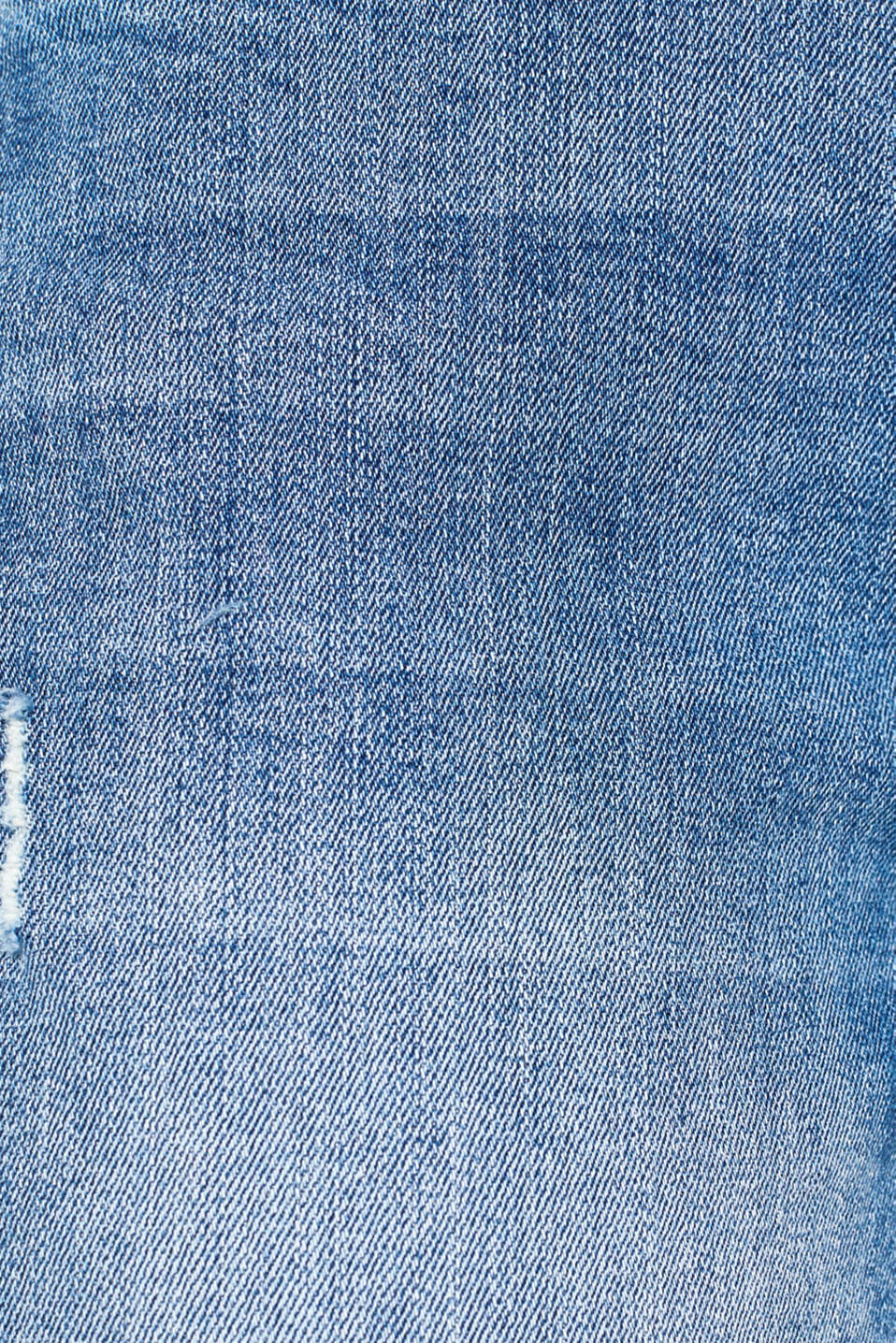 Stretch jeans with a button fly, BLUE MEDIUM WASH, detail image number 4