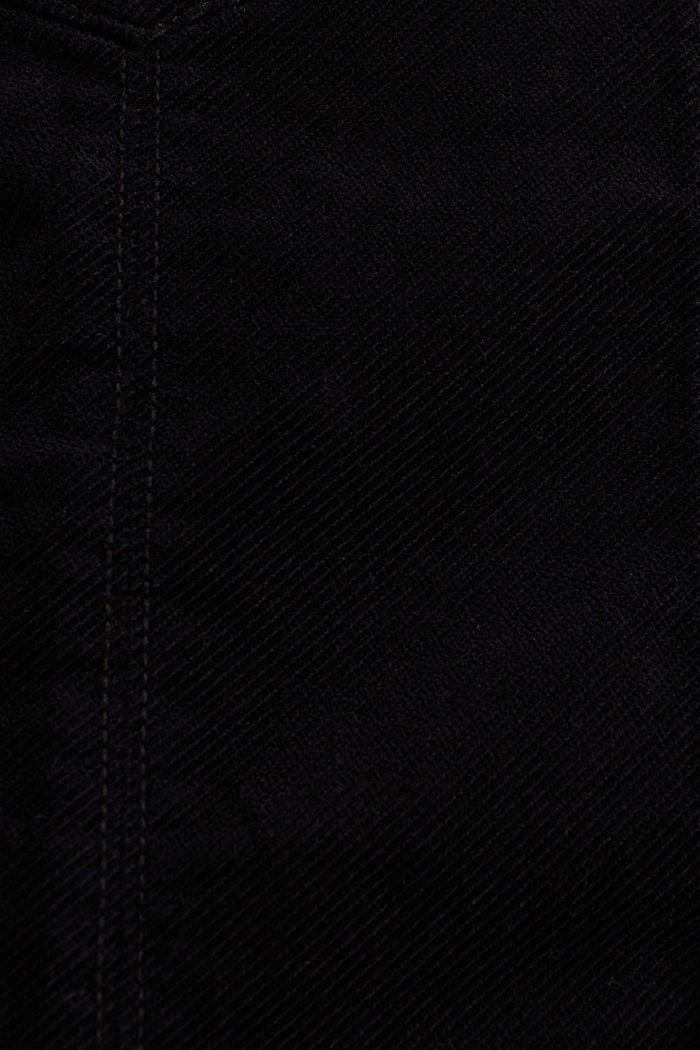 Corduroy skirt made of stretch cotton, BLACK, detail image number 4