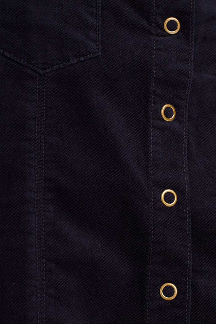 Corduroy skirt made of stretch cotton, NAVY, detail image number 4