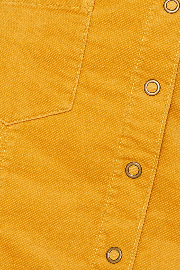 Corduroy skirt made of stretch cotton, HONEY YELLOW, detail image number 4