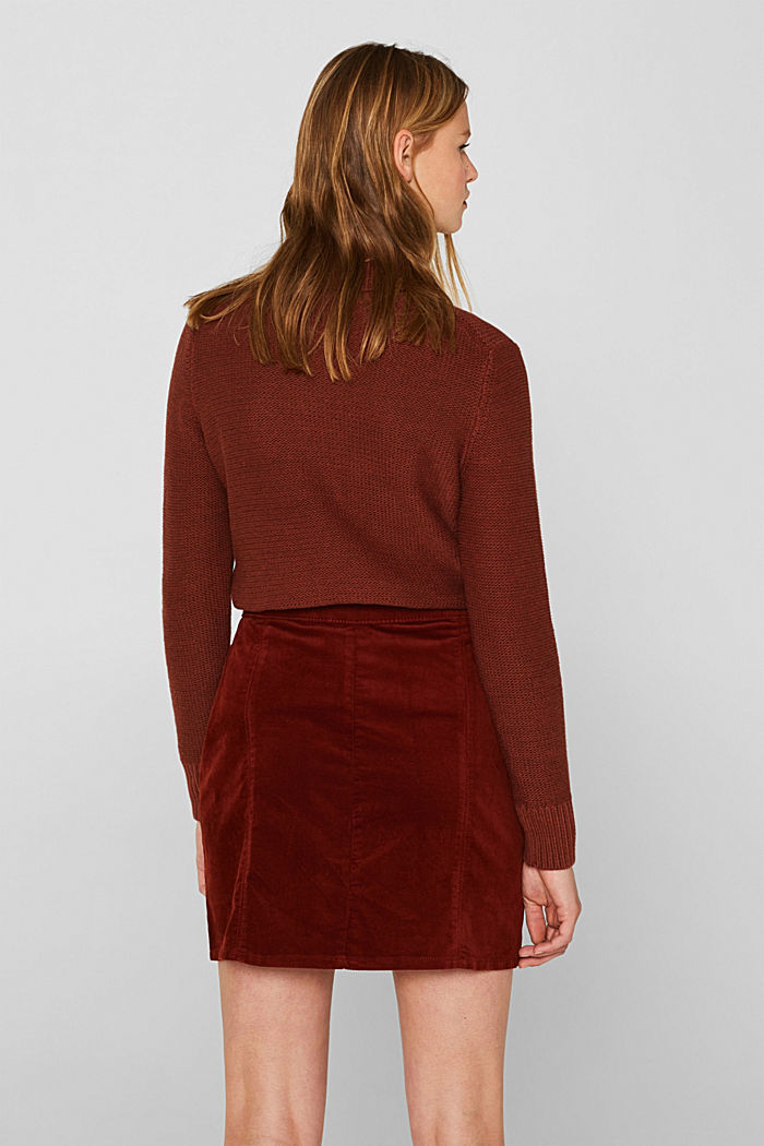 Corduroy skirt made of stretch cotton, TERRACOTTA, detail image number 3