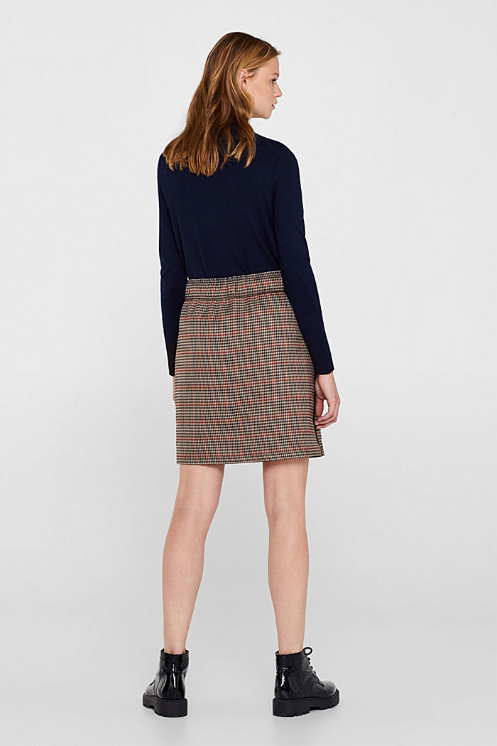 Houndstooth skirt with tuxedo stripes, TAUPE, detail image number 3