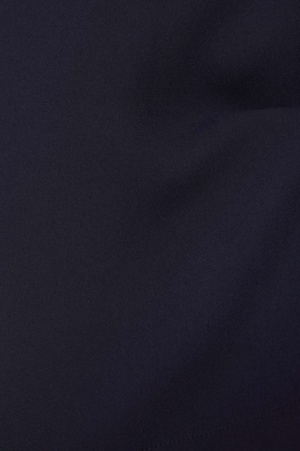 Crêpe skirt with a drawstring waistband, NAVY, detail image number 4
