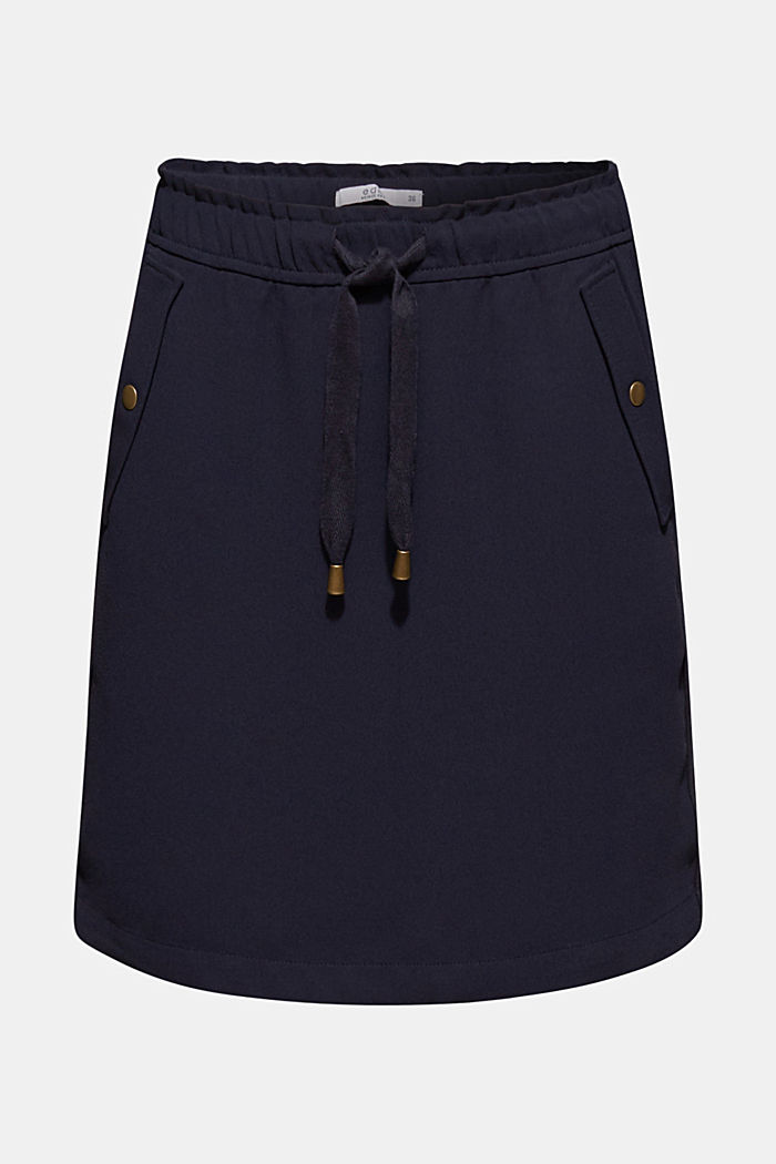 Crêpe skirt with a drawstring waistband