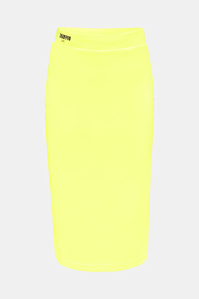 Long tube skirt made of sweatshirt fabric, BRIGHT YELLOW, detail image number 6