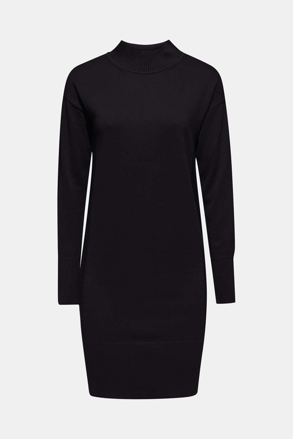 Dresses flat knitted, BLACK, detail image number 7