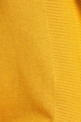 Knitted dress with texture effects, HONEY YELLOW, detail
