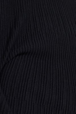 Dress made of a ribbed knit, recycled, BLACK, detail