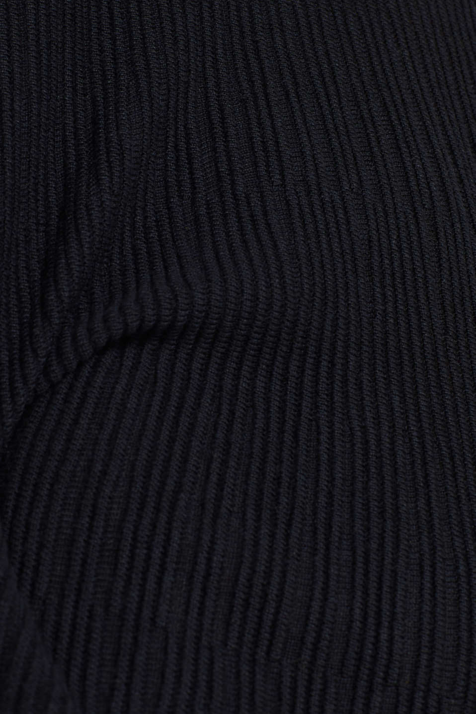 Dress made of a ribbed knit, recycled, BLACK, detail image number 5