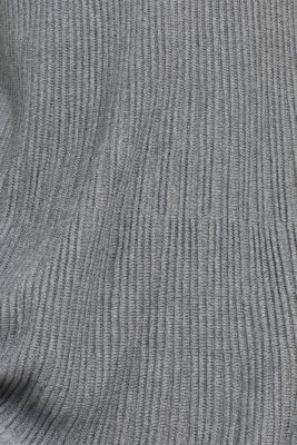 Dress made of a ribbed knit, recycled, GUNMETAL 5, detail