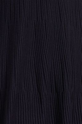 Dress made of a ribbed knit, recycled, NAVY, detail