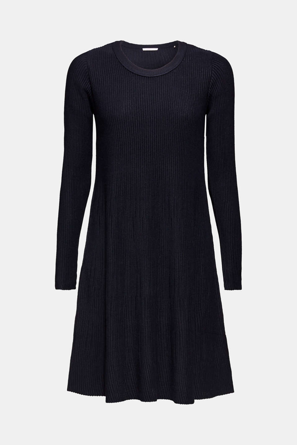Dress made of a ribbed knit, recycled, NAVY, detail image number 6
