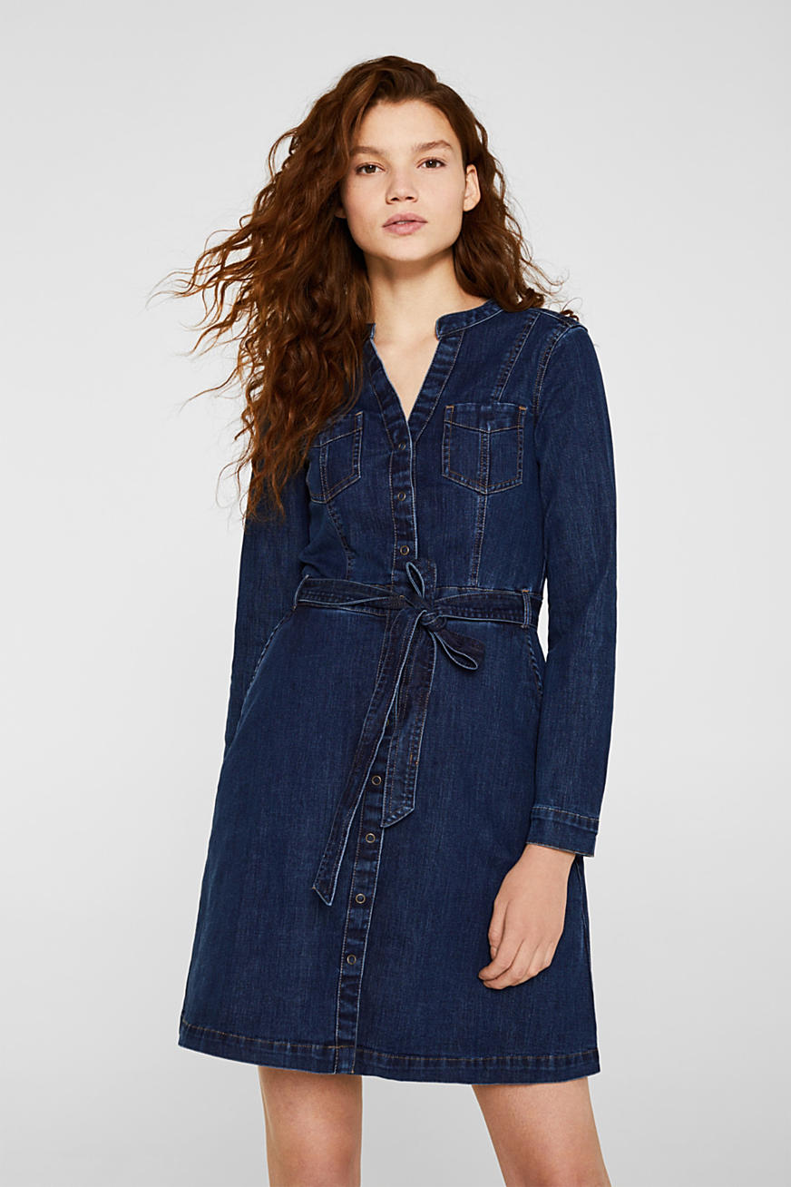 Robe en denim stretch