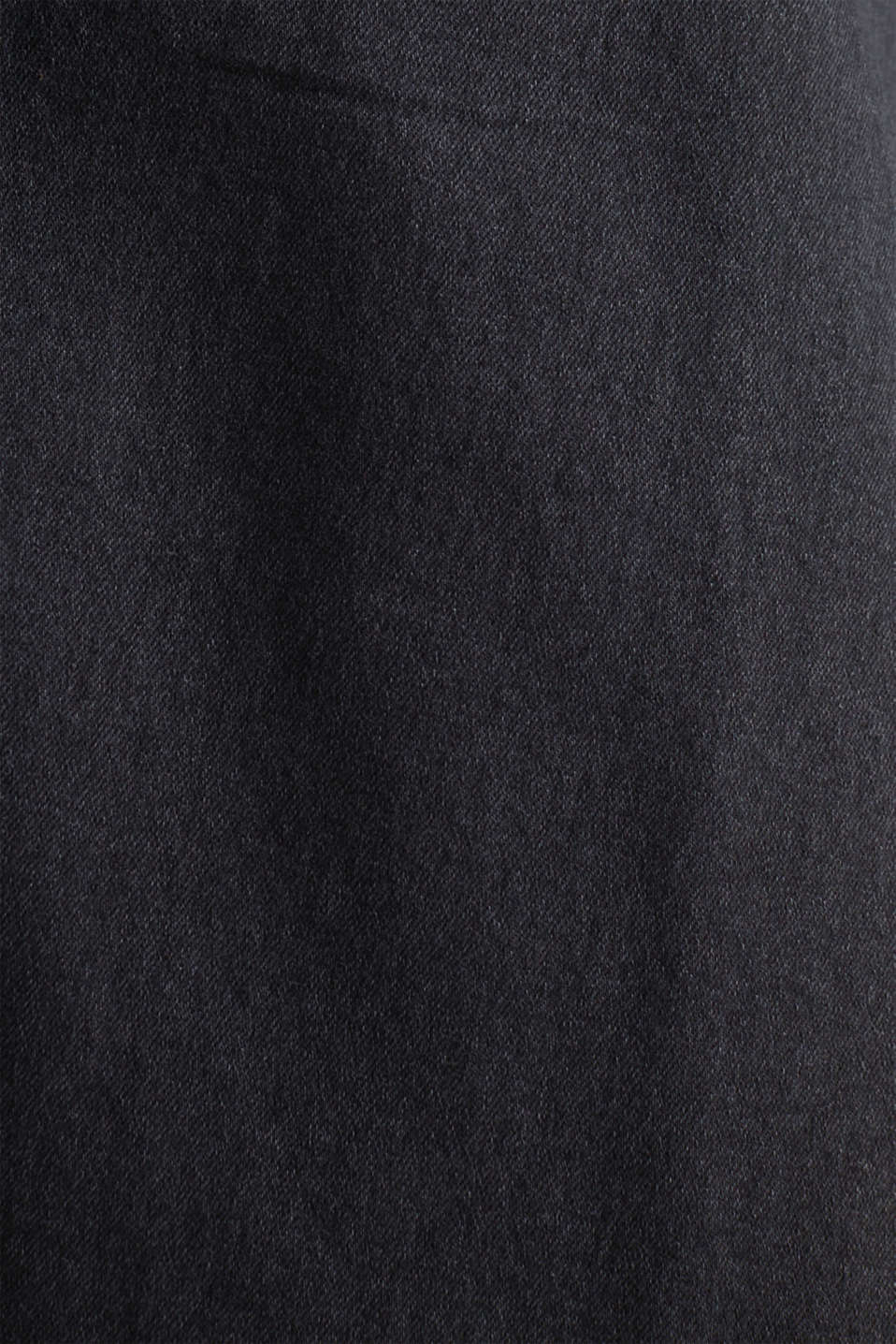Stretch denim shirt blouse dress, BLACK DARK WASH, detail image number 4