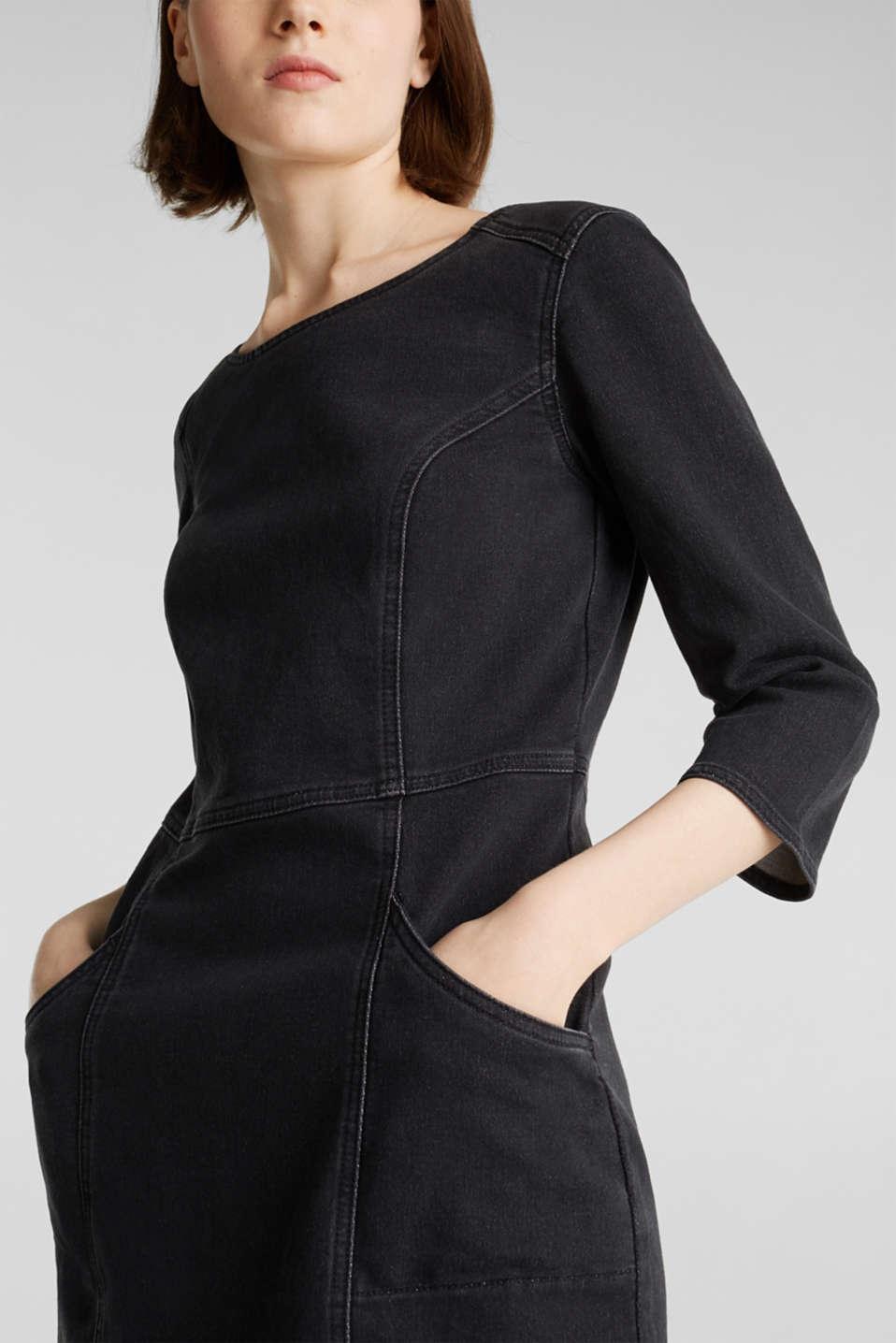 Dresses denim, BLACK DARK WASH, detail image number 3
