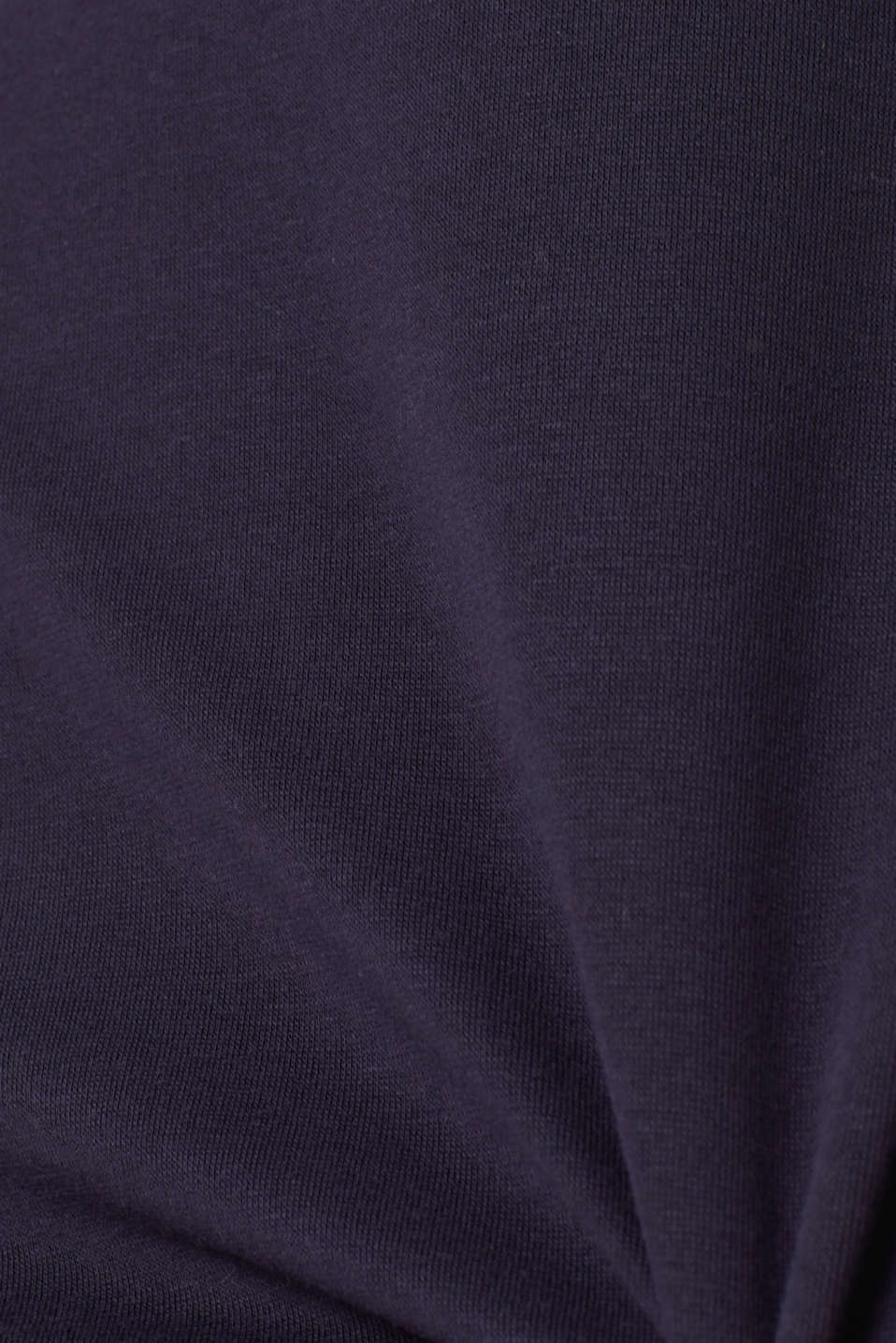 Piped stretch jersey dress, NAVY, detail image number 4
