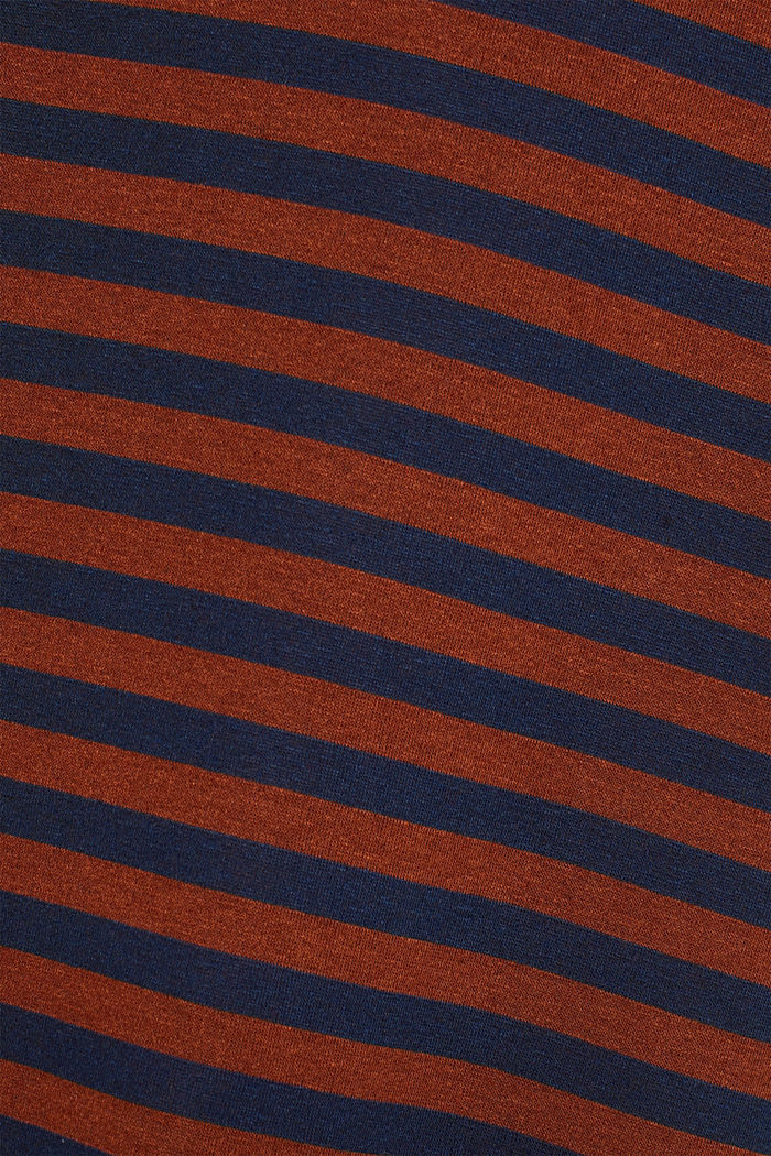 Striped stretch jersey dress, RUST BROWN, detail image number 4