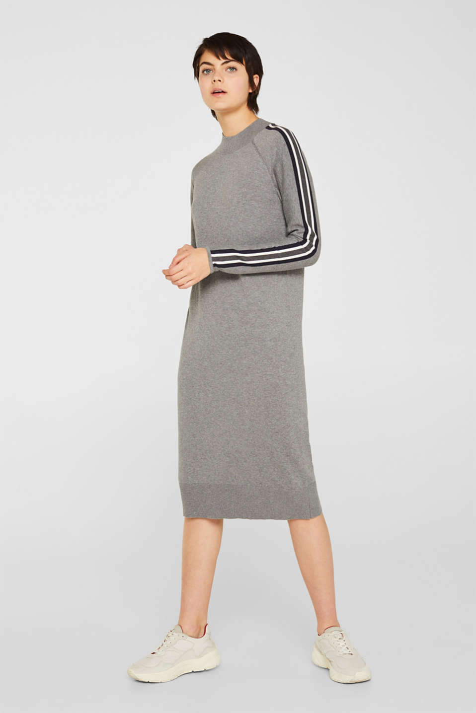 edc - Knit dress with racing stripes