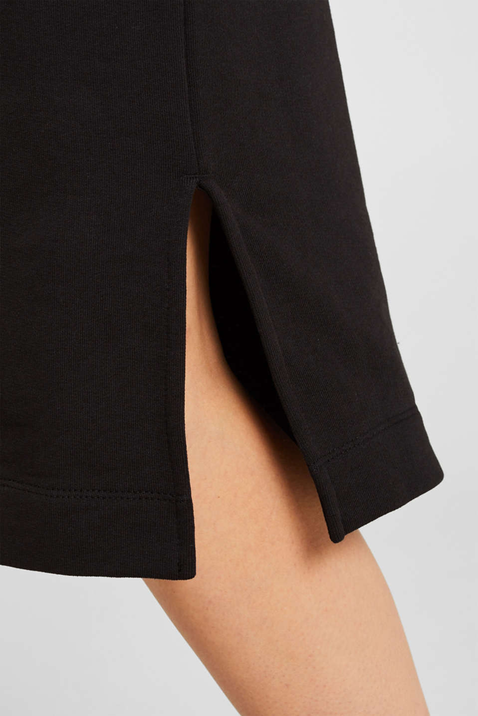 Sweatshirt dress with a belt, BLACK, detail image number 3