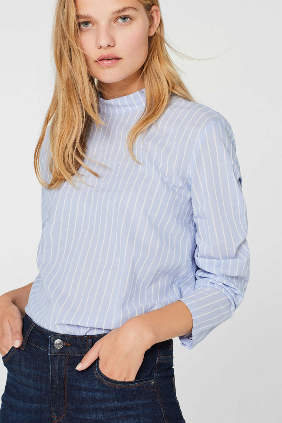 edc - Blouse with a button placket at the back