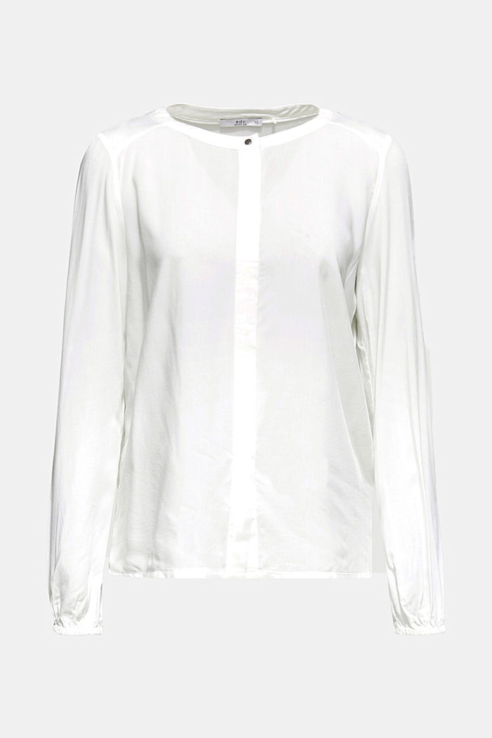 Blouse made of a material mix, OFF WHITE, overview