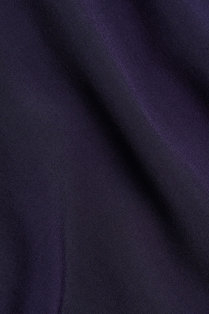 Blouse made of a material mix, NAVY, detail image number 4