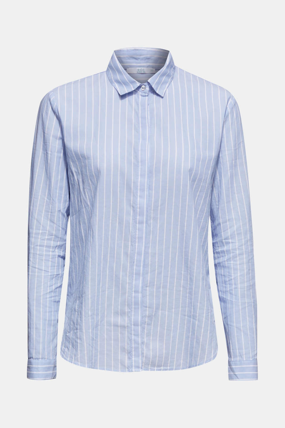 Striped blouse in 100% cotton, LIGHT BLUE, detail image number 7