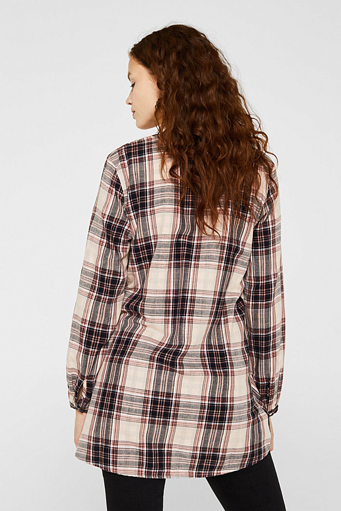 Double-faced check blouse, 100% percent cotton, LIGHT PINK, detail image number 3