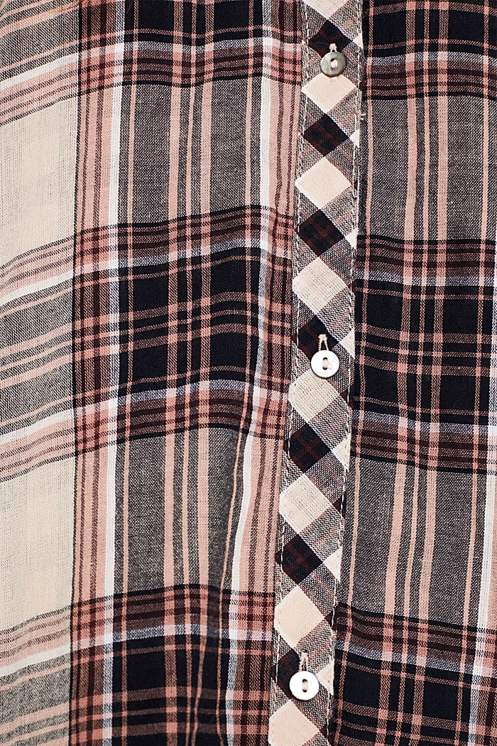 Double-faced check blouse, 100% percent cotton, LIGHT PINK, detail image number 4