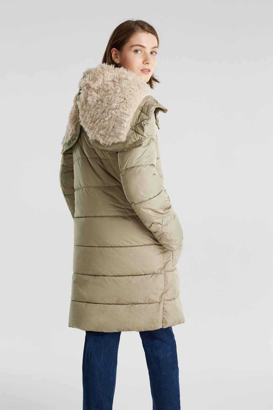 Quilted coat with 3M™ Thinsulate™ padding, PALE KHAKI, detail image number 3