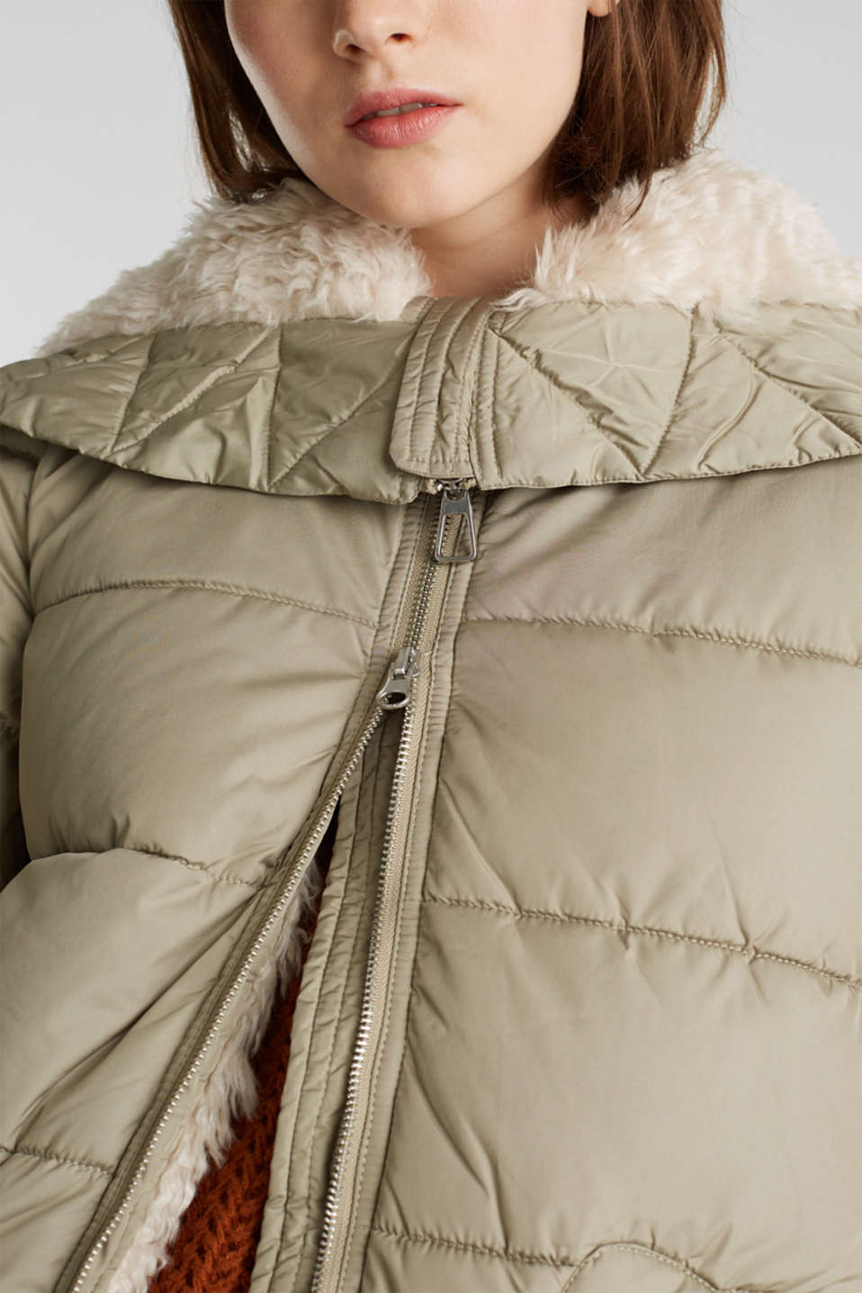Quilted coat with 3M™ Thinsulate™ padding, PALE KHAKI, detail image number 2