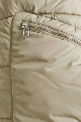 Quilted coat with 3M™ Thinsulate™ padding, PALE KHAKI, detail