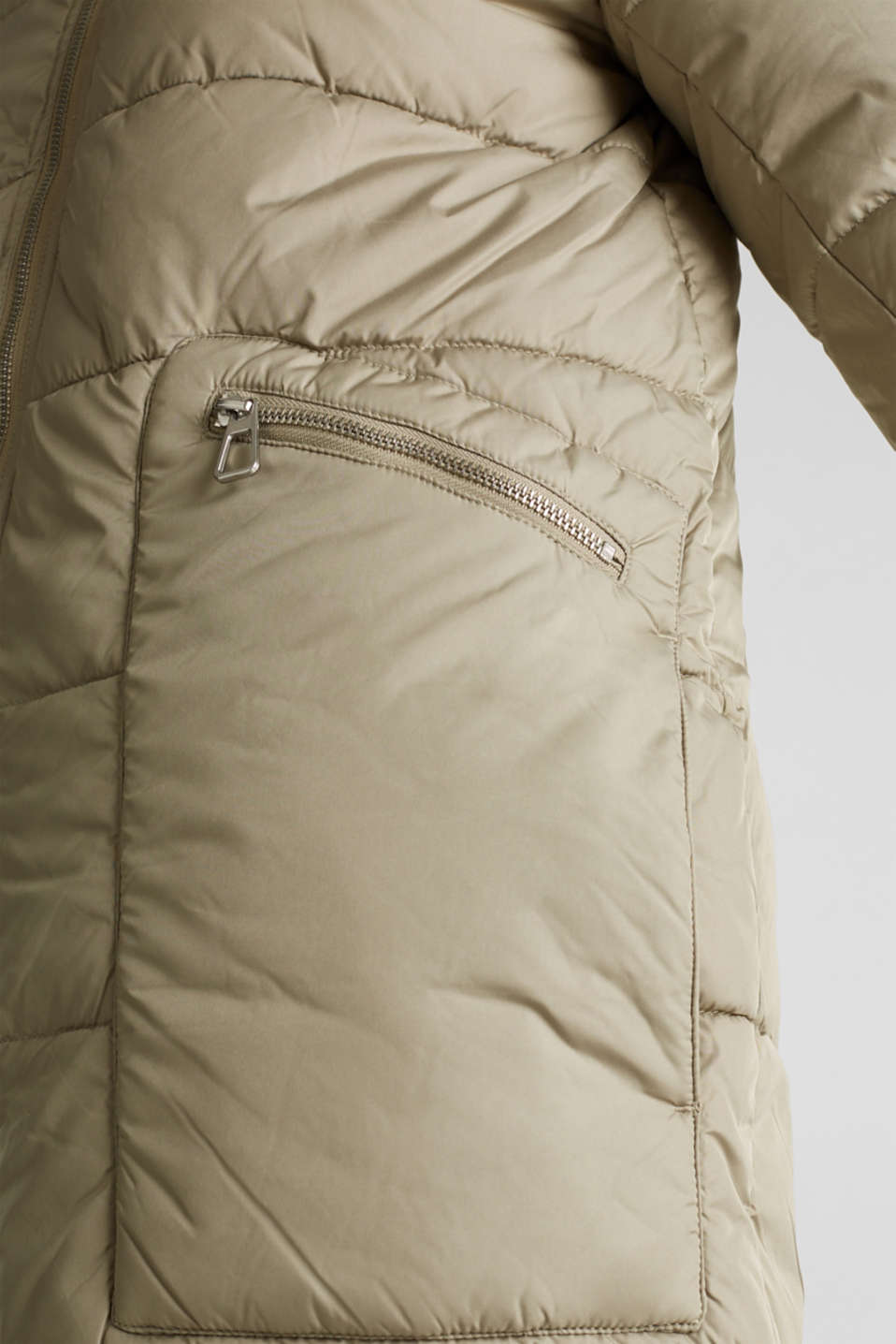 Quilted coat with 3M™ Thinsulate™ padding, PALE KHAKI, detail image number 5